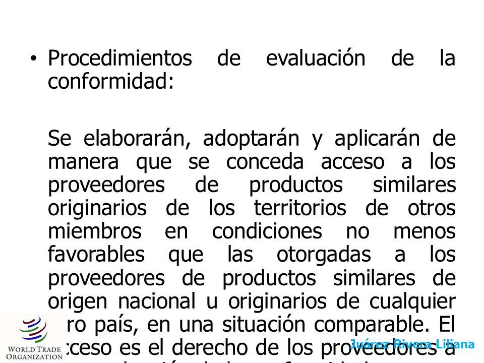 Procedimientos de evaluación de la conformidad: