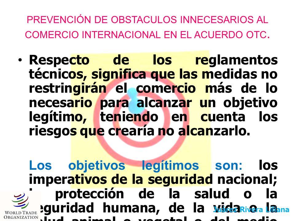 PREVENCIÓN DE OBSTACULOS INNECESARIOS AL COMERCIO INTERNACIONAL EN EL ACUERDO OTC.