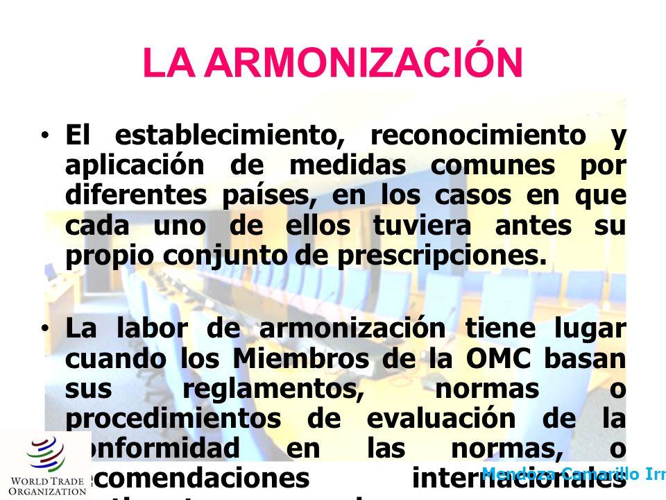 LA ARMONIZACIÓN