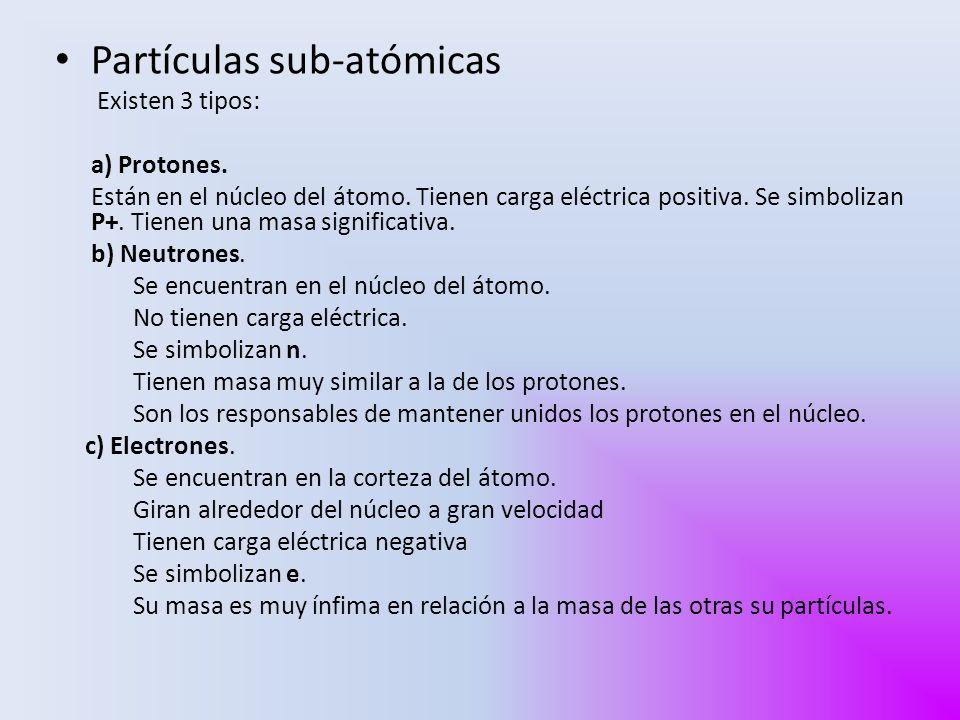 Partículas sub-atómicas