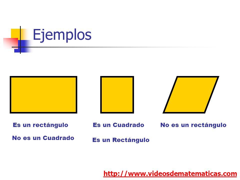 Ejemplos http://www.videosdematematicas.com Es un rectángulo