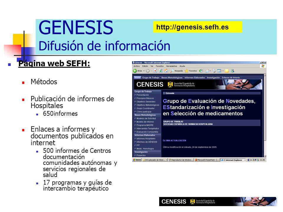 GENESIS Difusión de información