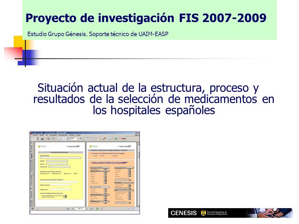 Proyecto de investigación FIS 2007-2009 Estudio Grupo Génesis