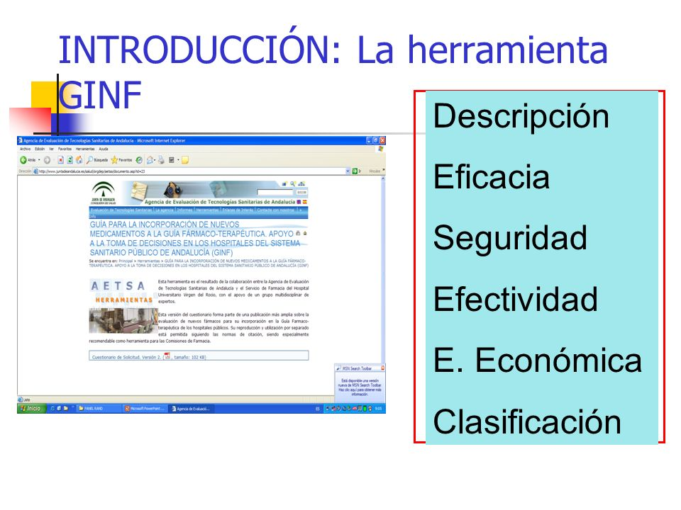 INTRODUCCIÓN: La herramienta GINF