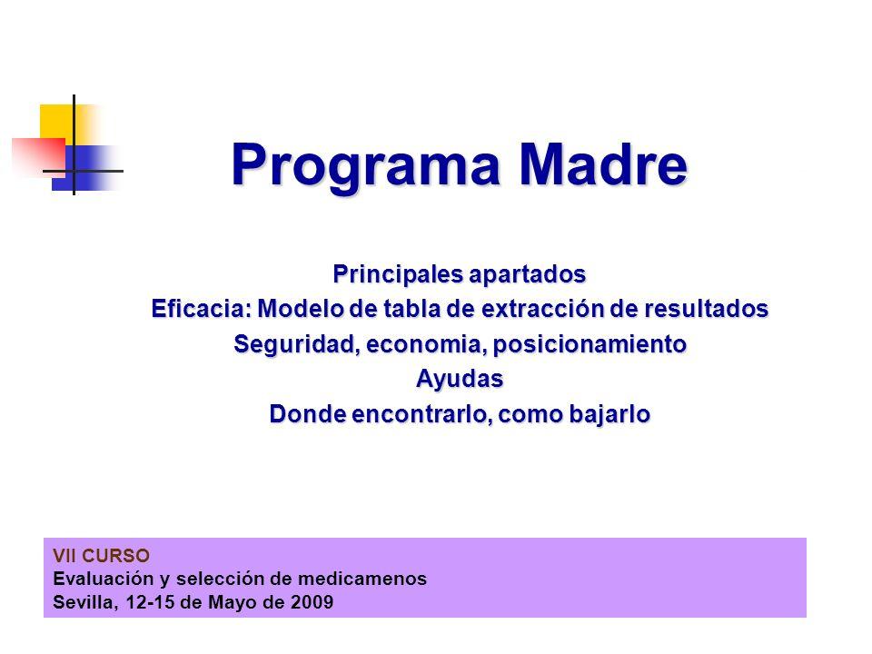 Programa Madre Principales apartados