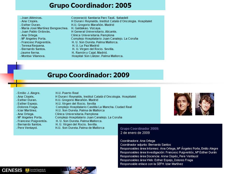 Grupo Coordinador: 2005 Grupo Coordinador: 2009