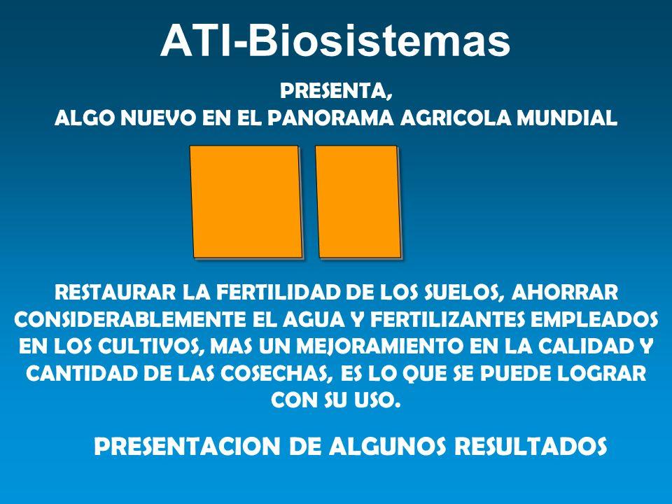 PRESENTACION DE ALGUNOS RESULTADOS