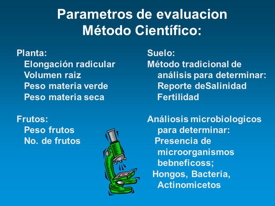 Parametros de evaluacion Método Científico: