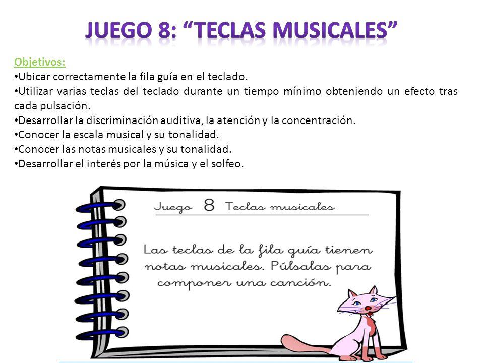 Juego 8: Teclas musicales