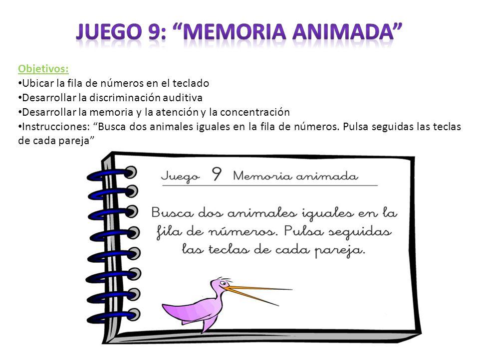 Juego 9: Memoria animada