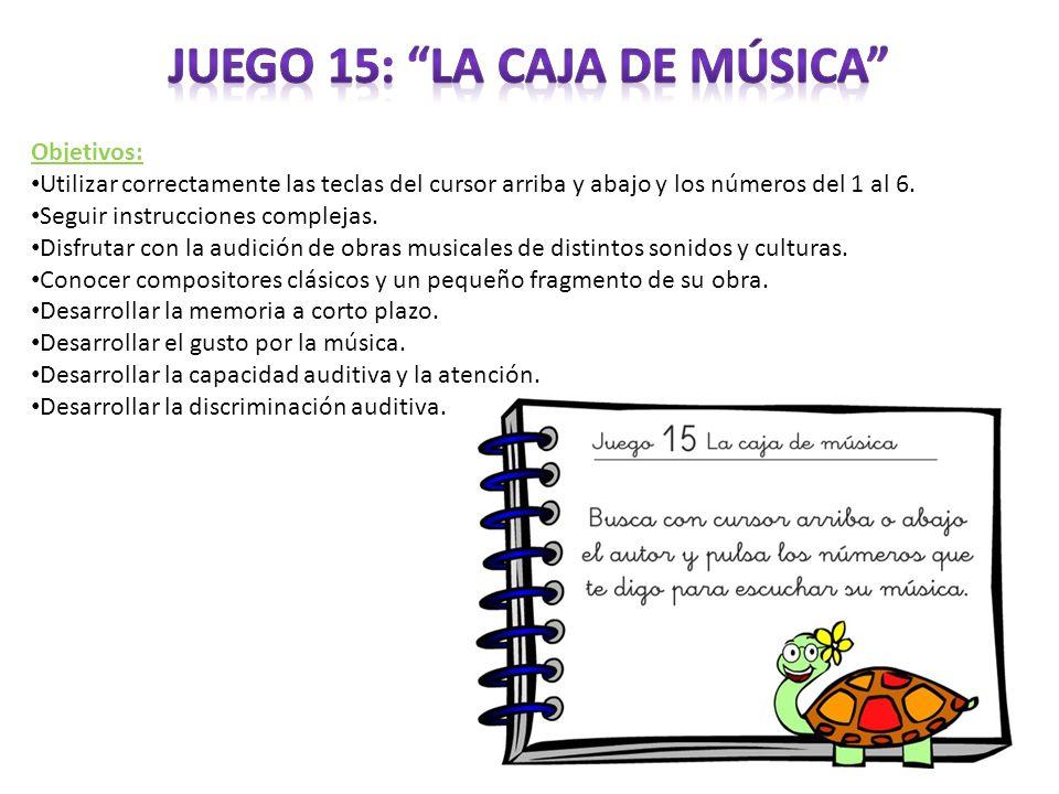 Juego 15: La caja de música