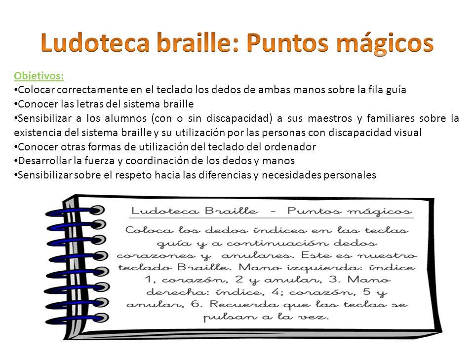 Ludoteca braille: Puntos mágicos