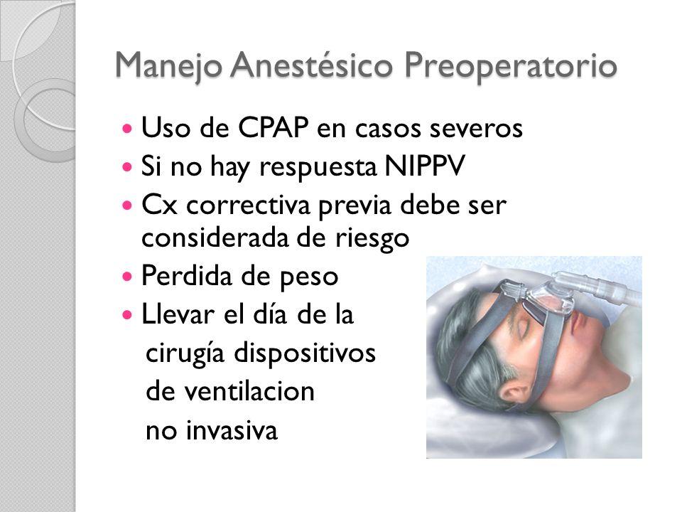Manejo Anestésico Preoperatorio