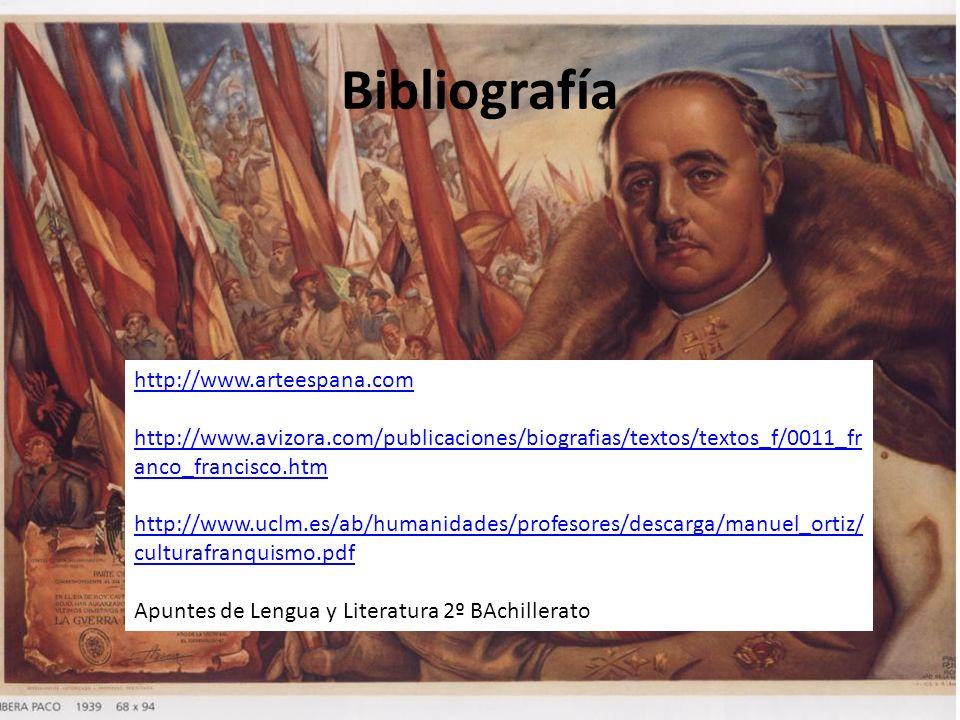 Bibliografía http://www.arteespana.com