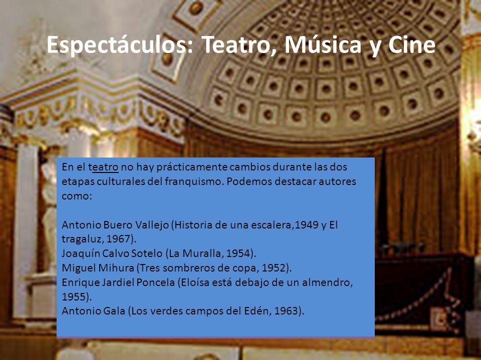 Espectáculos: Teatro, Música y Cine