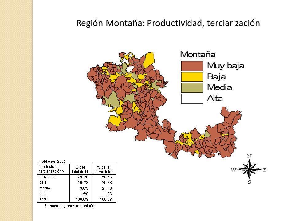 Región Montaña: Productividad, terciarización