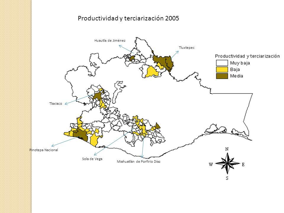 Productividad y terciarización 2005