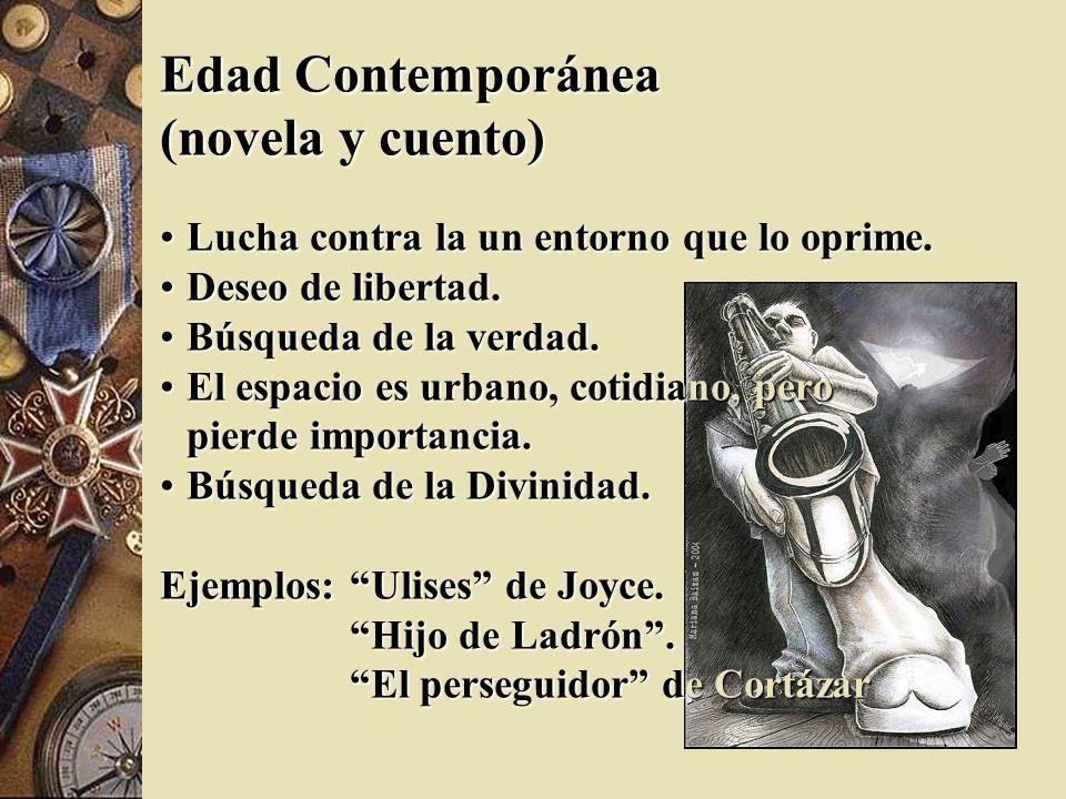 (novela y cuento) Edad Contemporánea