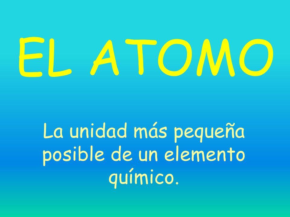 La unidad más pequeña posible de un elemento químico.