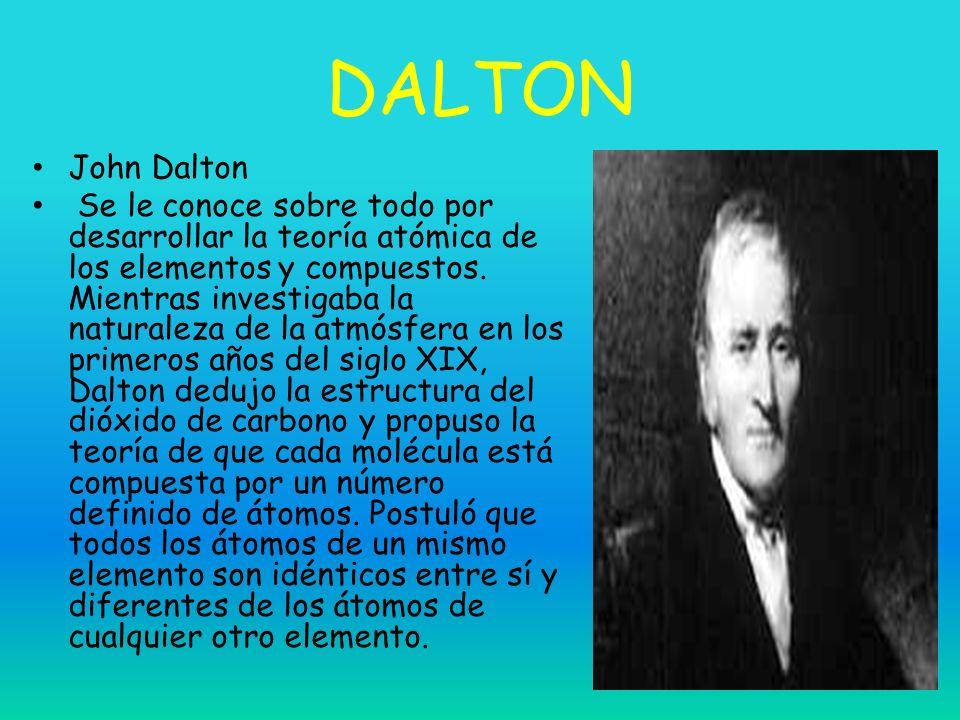 DALTON John Dalton.