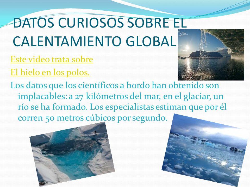 DATOS CURIOSOS SOBRE EL CALENTAMIENTO GLOBAL