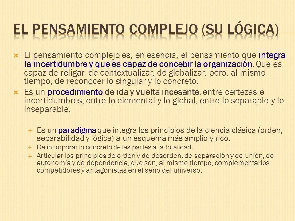 El pensamiento complejo (Su lógica)