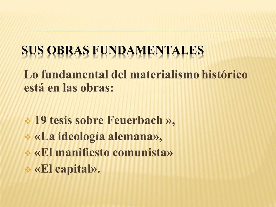 Sus Obras fundamentales