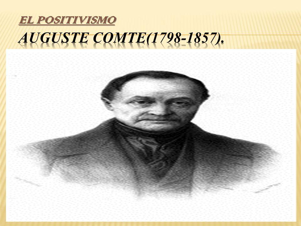 EL POSITIVISMO Auguste Comte(1798-1857).