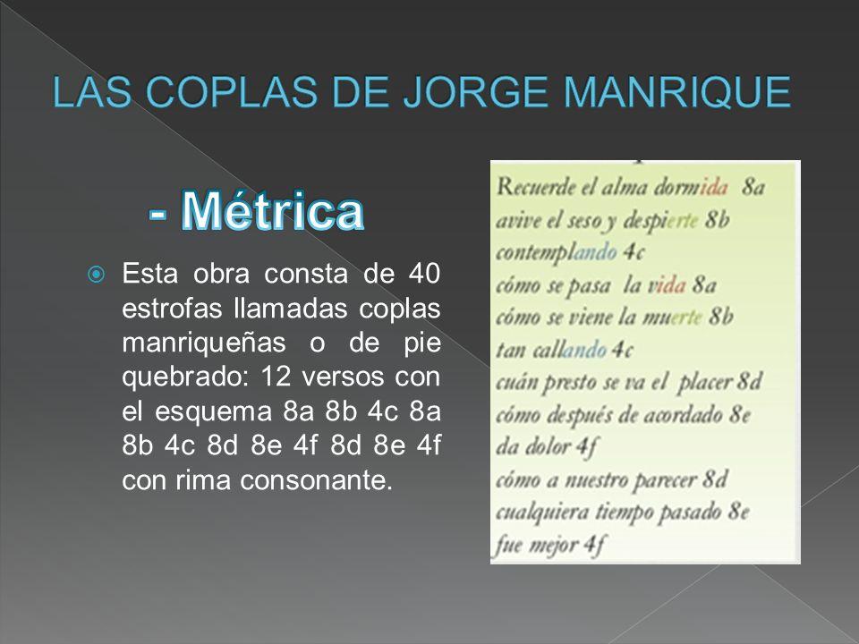 LAS COPLAS DE JORGE MANRIQUE
