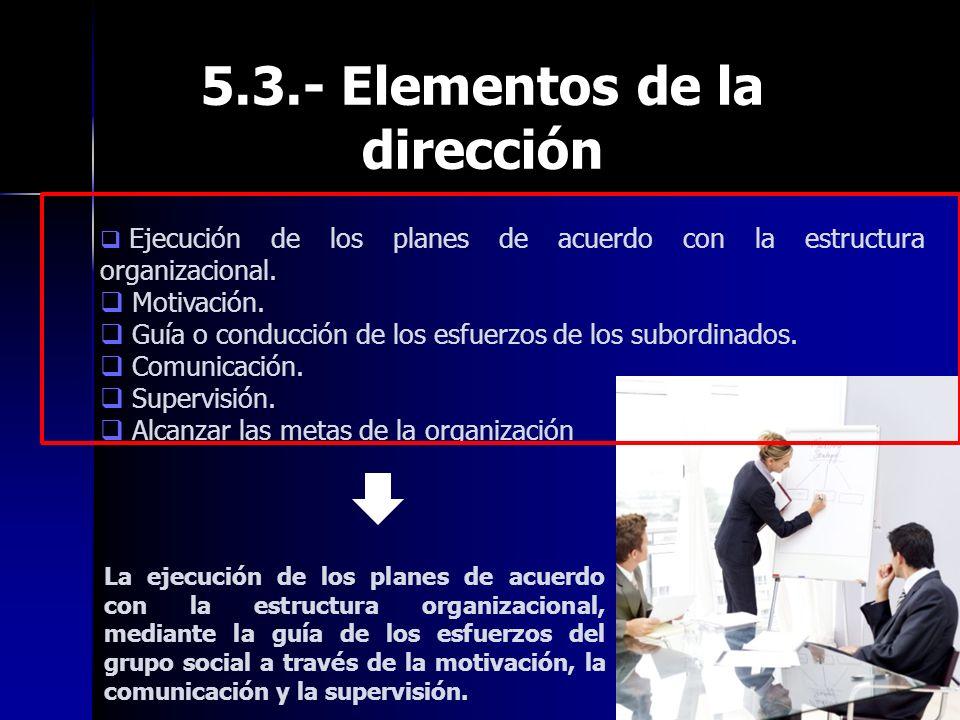 5.3.- Elementos de la dirección