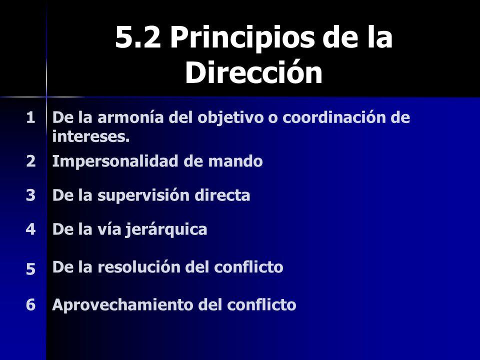 5.2 Principios de la Dirección