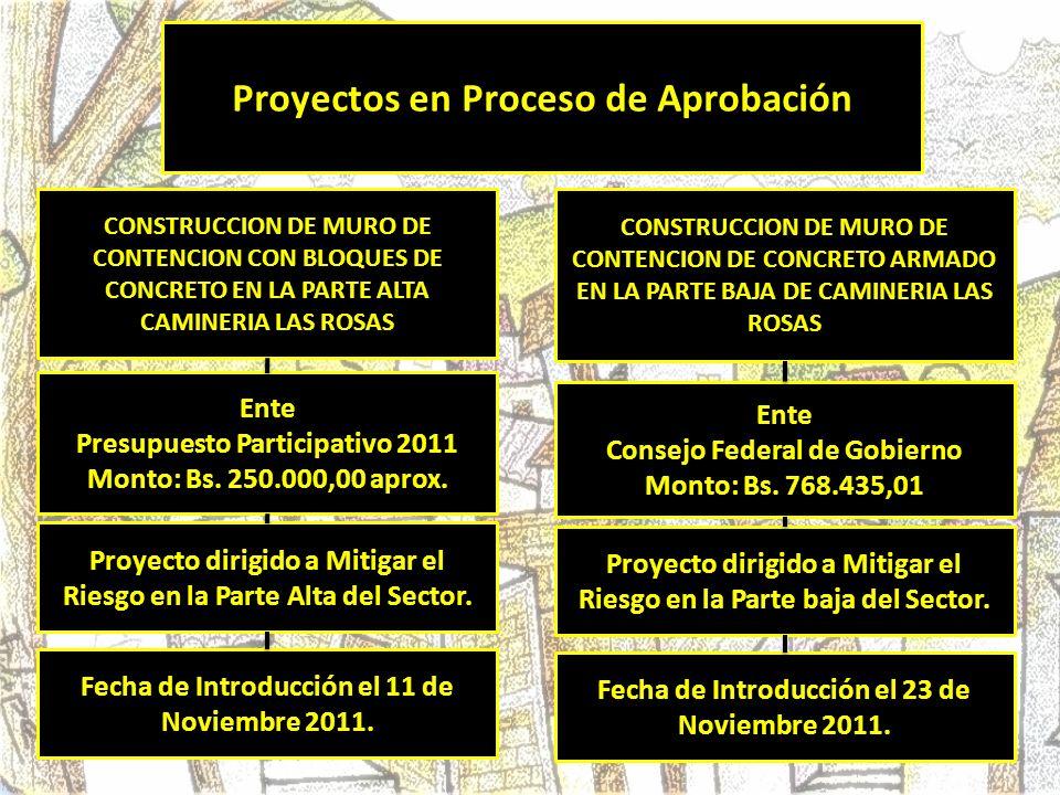 Proyectos en Proceso de Aprobación
