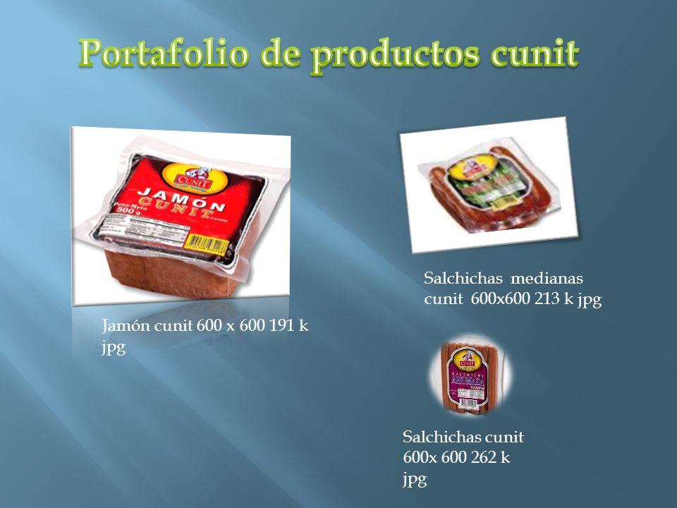 Portafolio de productos cunit