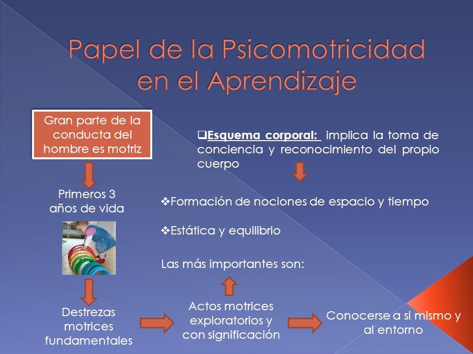 Papel de la Psicomotricidad en el Aprendizaje