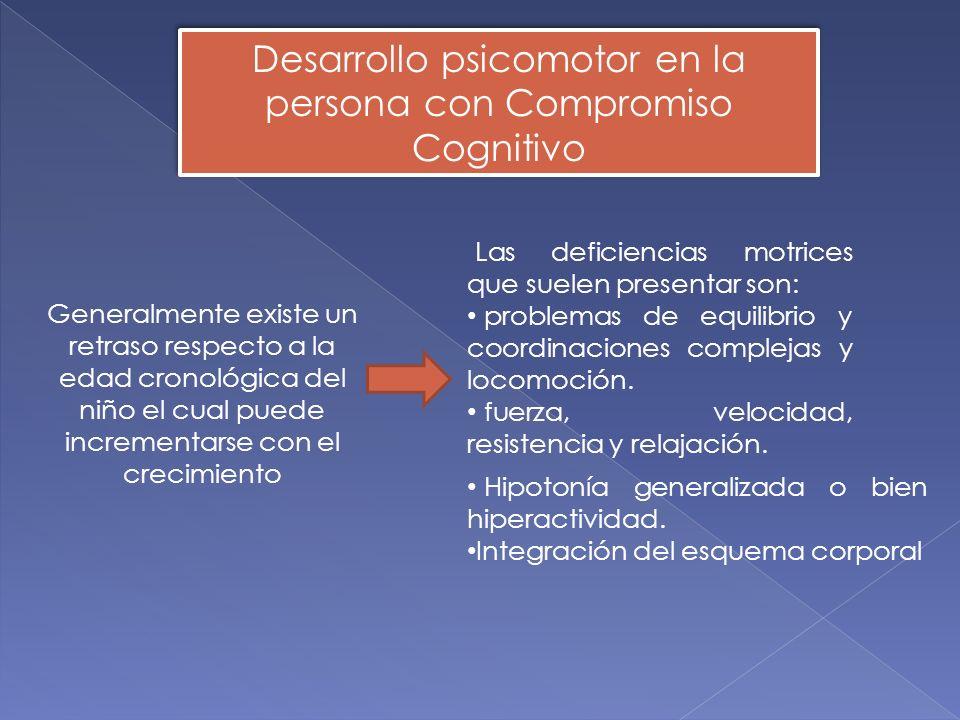 Desarrollo psicomotor en la persona con Compromiso Cognitivo