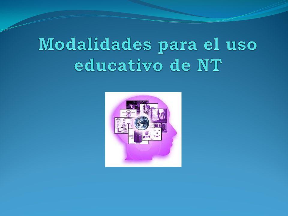 Modalidades para el uso educativo de NT