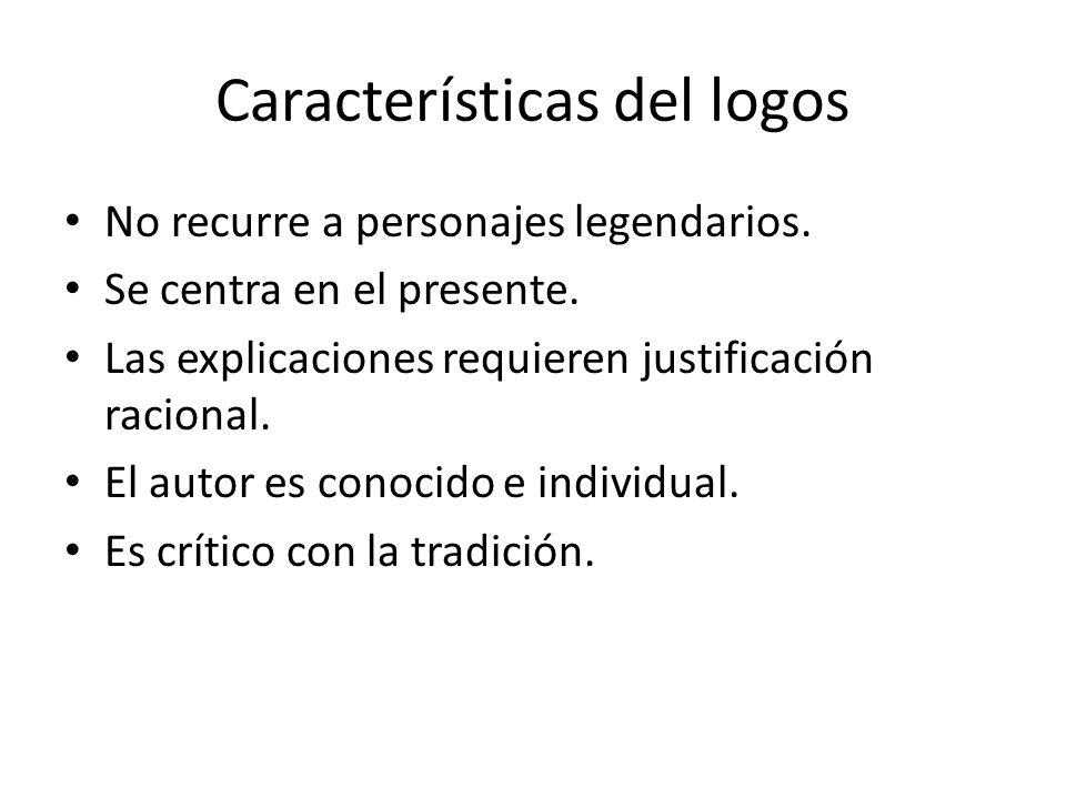 Características del logos