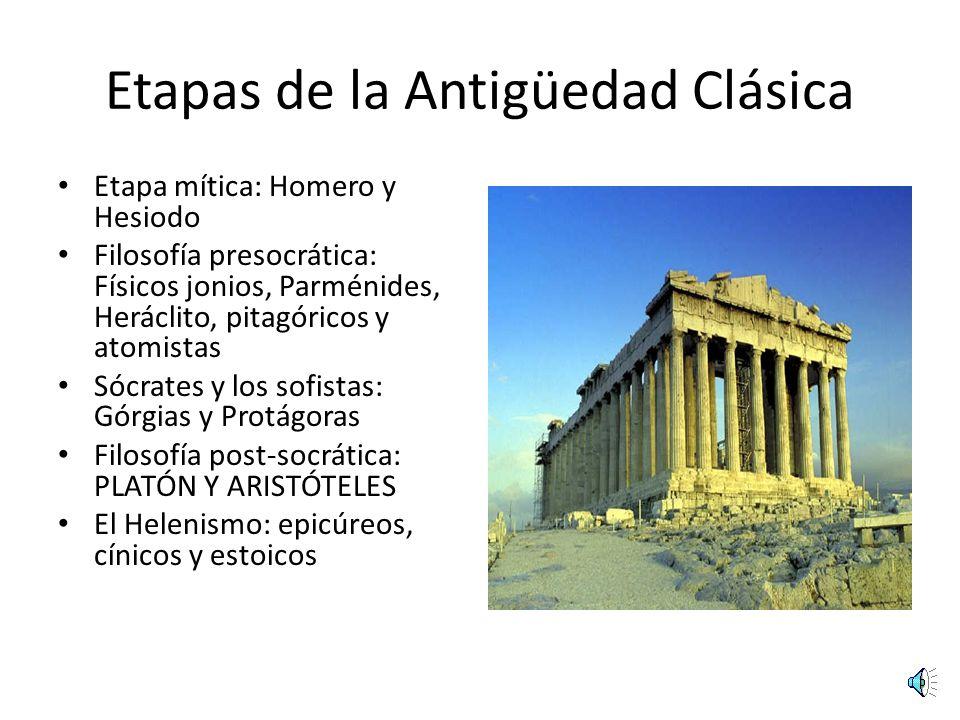 Etapas de la Antigüedad Clásica