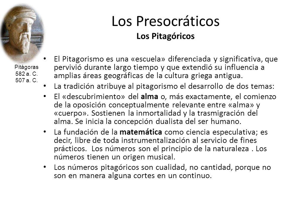 Los Presocráticos Los Pitagóricos