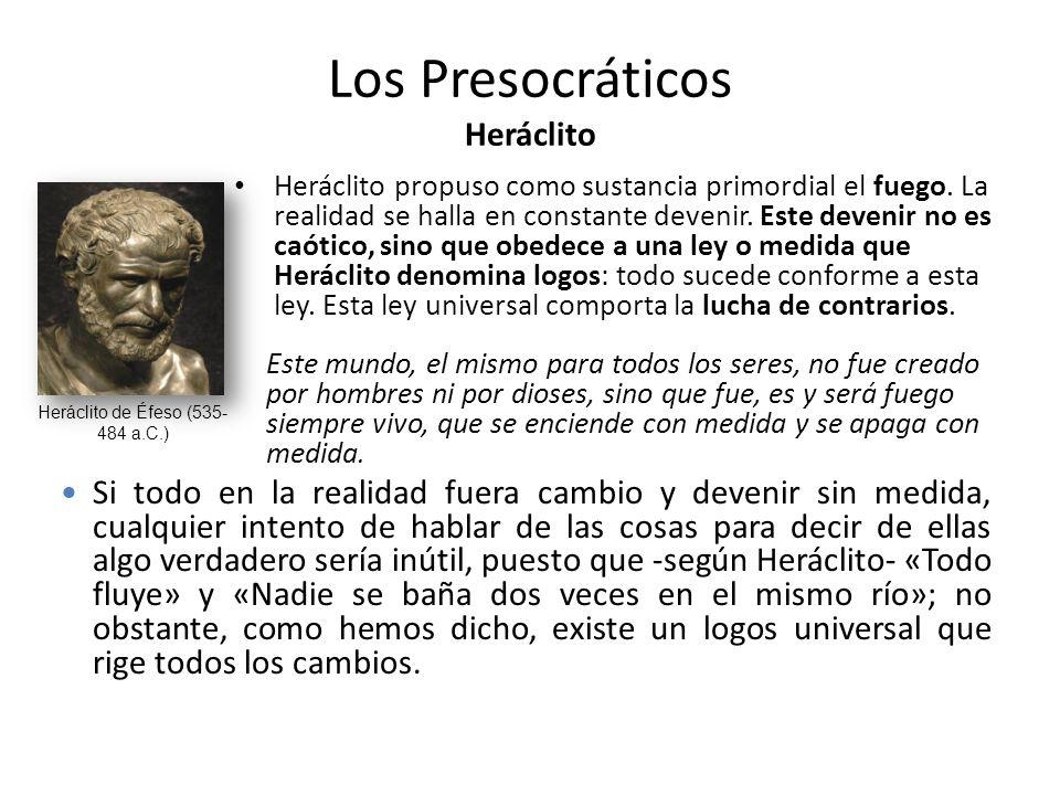 Los Presocráticos Heráclito