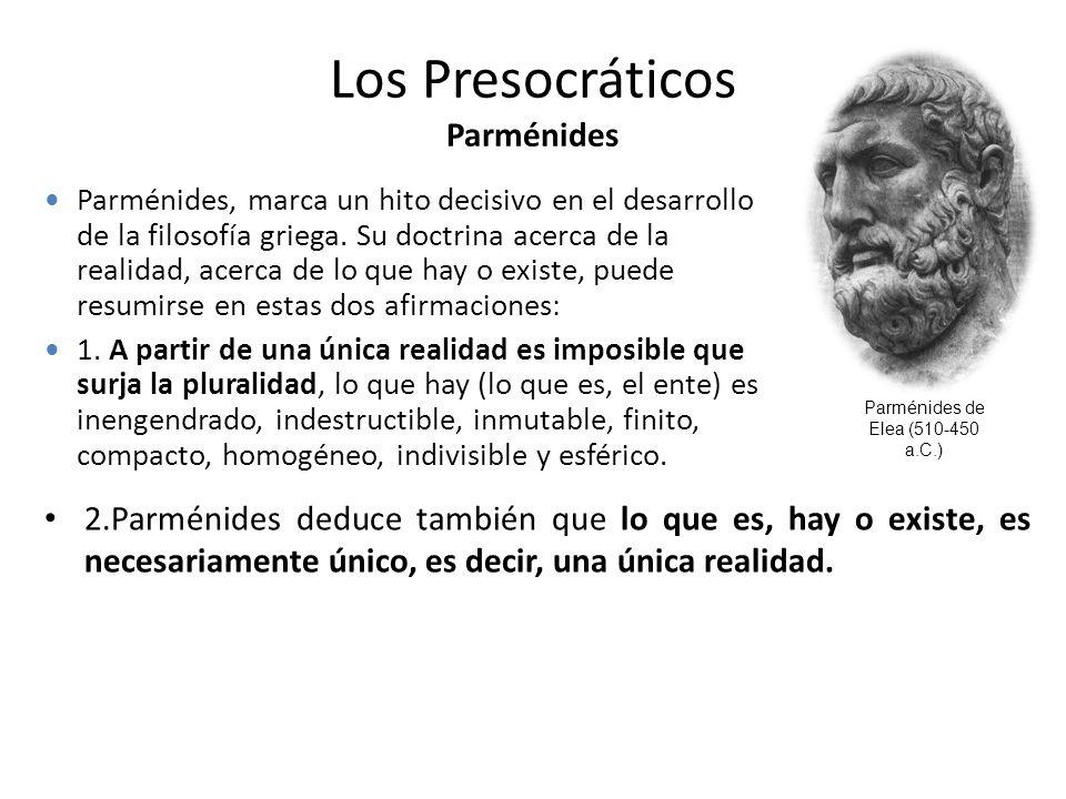 Los Presocráticos Parménides