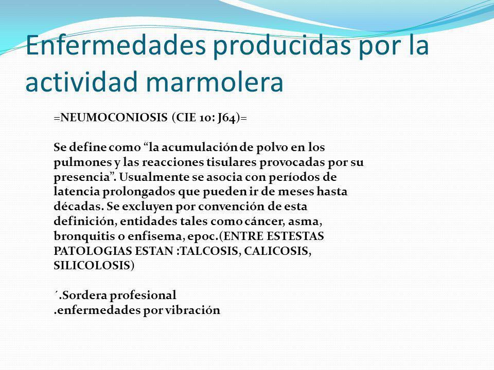 Enfermedades producidas por la actividad marmolera