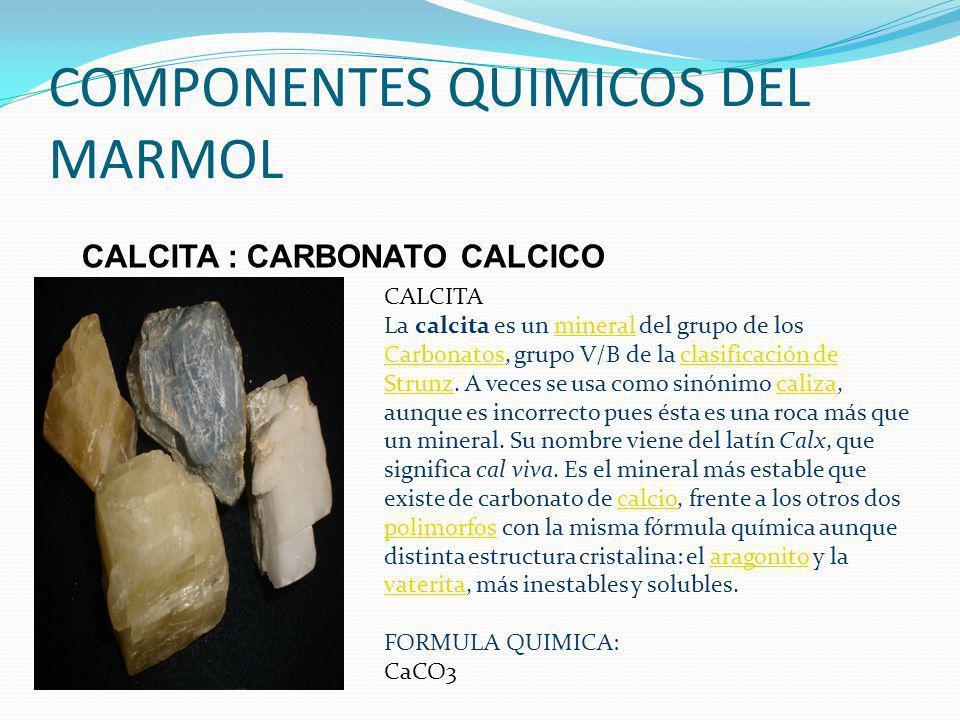el marmol densidad 2 38 2 87 kg dm3 resistencia a