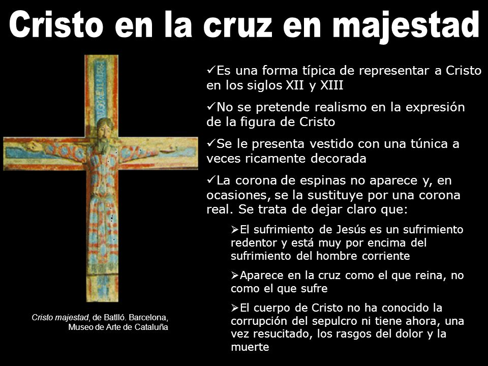 Cristo en la cruz en majestad