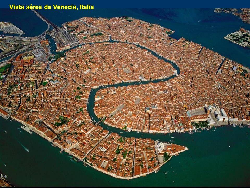 Vista aérea de Venecia, Italia