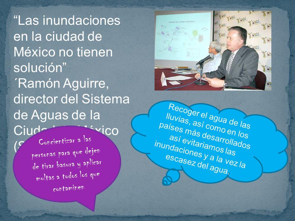 Las inundaciones en la ciudad de México no tienen solución