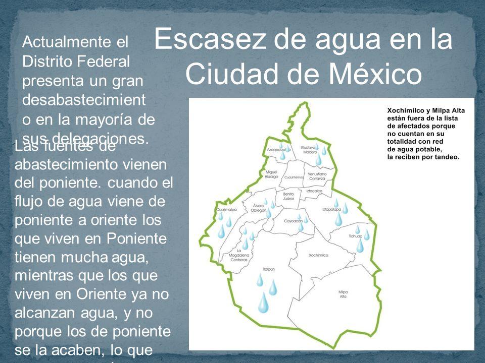 Escasez de agua en la Ciudad de México