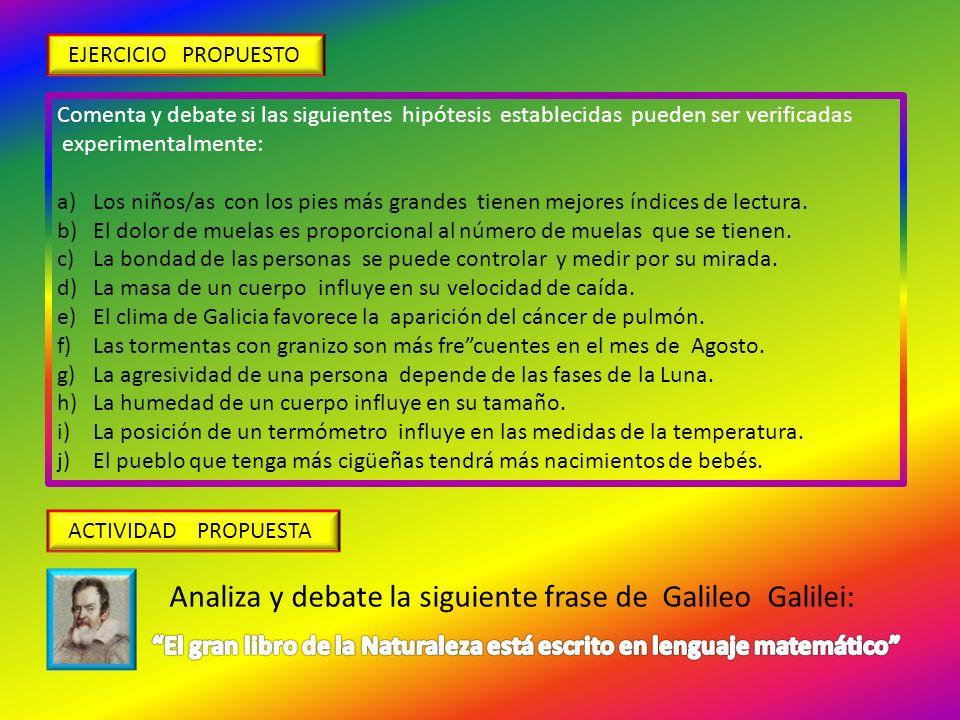 El gran libro de la Naturaleza está escrito en lenguaje matemático