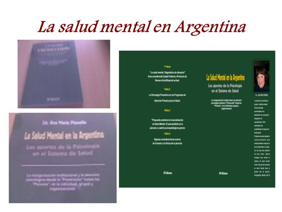 La salud mental en Argentina
