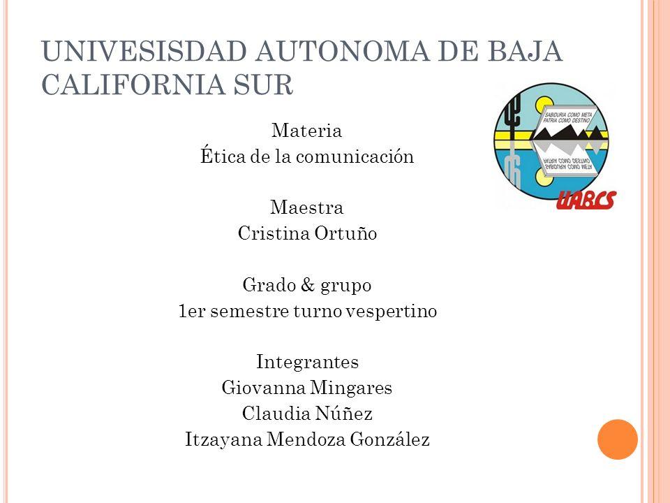 UNIVESISDAD AUTONOMA DE BAJA CALIFORNIA SUR